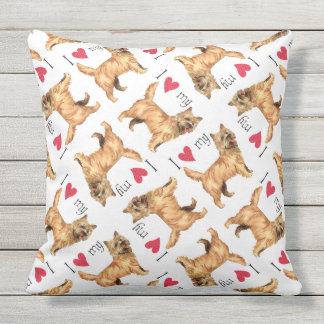I Love my Cairn Terrier Outdoor Pillow