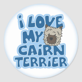 I Love My Cairn Terrier Stickers