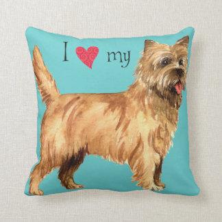 I Love my Cairn Terrier Throw Pillow