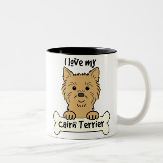 I Love My Cairn Terrier Two-Tone Coffee Mug
