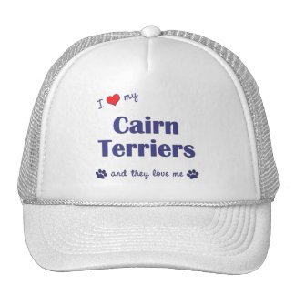 I Love My Cairn Terriers (Multiple Dogs) Trucker Hat