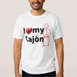 I Love My Cajon - with stick figure T-Shirt
