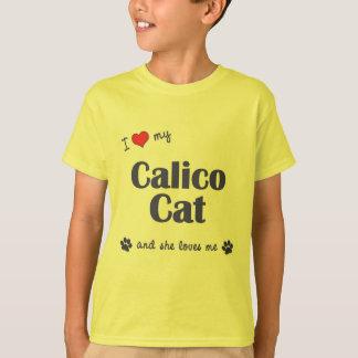 I Love My Calico Cat (Female Cat) T-Shirt