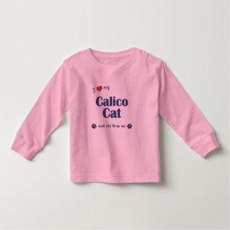 I Love My Calico Cat (Female Cat) Toddler T-shirt