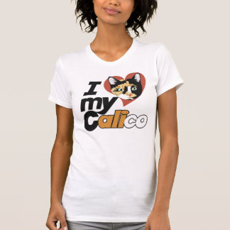 I Love my CALICO cat T-Shirt