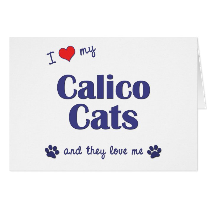 I Love My Calico Cats (Multiple Cats) Card