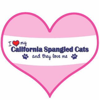 I Love My California Spangled Cats (Multiple Cats) Photo Sculpture Ornament
