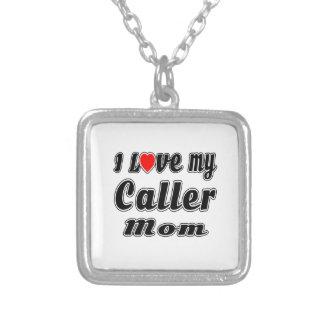 I Love My Caller Mom Custom Jewelry