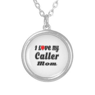 I Love My Caller Mom Pendants