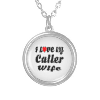 I Love My Caller Wife Custom Necklace