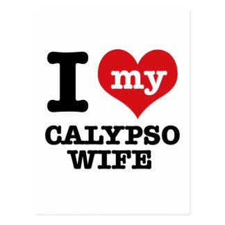 I love my calypso Boyfriend Postcard