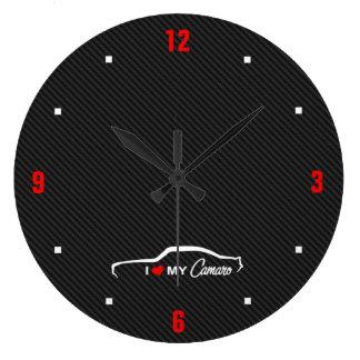 I Love MY Camaro Clocks