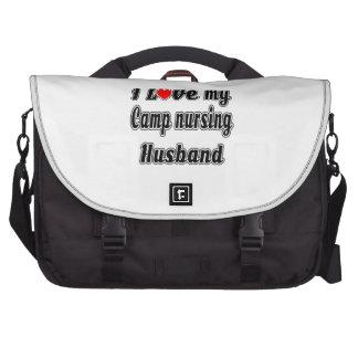 I Love My Camp nursing Husband Laptop Computer Bag