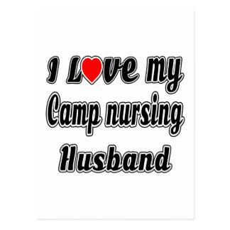 I Love My Camp nursing Husband Post Card