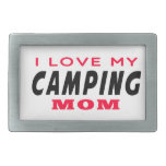 I Love My Camping Mom Belt Buckles