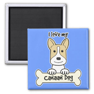 I Love My Canaan Dog Fridge Magnet