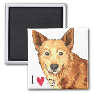 I Love my Canaan Dog Magnet