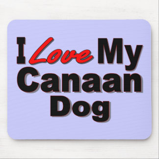 I Love My Canaan Dog Merchandise Mouse Pad