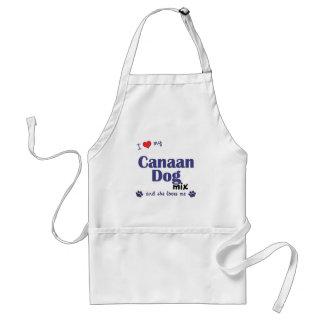 I Love My Canaan Dog Mix (Female Dog) Apron