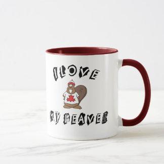 I Love My Canadian Beaver Gift Mug