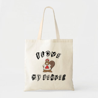 I Love My Canadian Beaver Gift Tote Bag