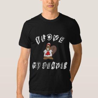 I Love My Canadian Beaver T-shirt