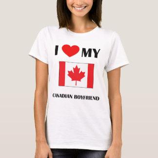 I Love My Canadian Boyfriend Ladies Baby Doll T-Shirt