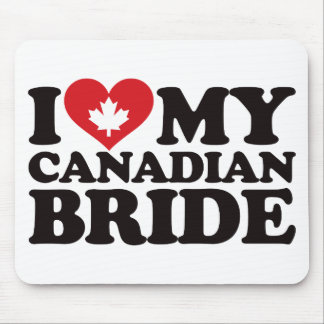 I Love My Canadian Bride Mouse Pad