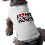 I Love My Canadian Family Doggie Shirt