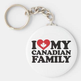 I Love My Canadian Family Keychain