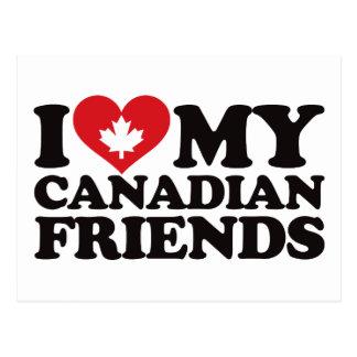 I Love My Canadian Friends Postcard