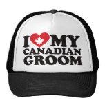 I Love My Canadian Groom Trucker Hats