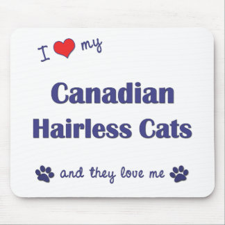 I Love My Canadian Hairless Cats (Multiple Cats) Mouse Pad