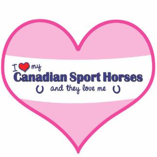 I Love My Canadian Sport Horses (Multiple Horses) Statuette