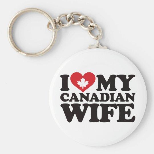 I Love My Canadian Wife Keychain