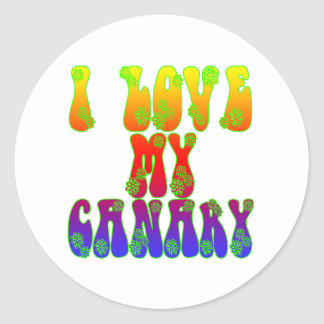 I Love My Canary Classic Round Sticker
