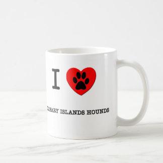 I LOVE MY CANARY ISLANDS HOUNDS COFFEE MUGS