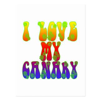 I Love My Canary Postcard