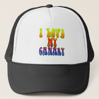 I Love My Canary Trucker Hat