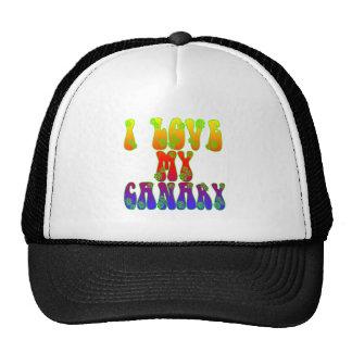 I Love My Canary Trucker Hat