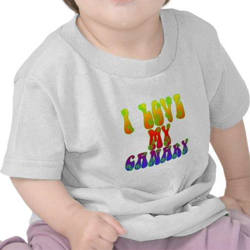 I Love My Canary Tee Shirt