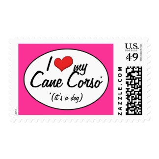 I Love My Cane Corso (It's a Dog) Postage Stamps