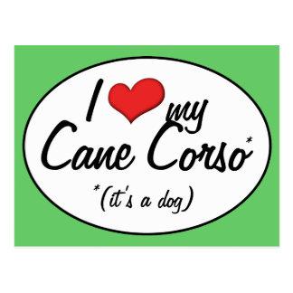 I Love My Cane Corso (It's a Dog) Postcard