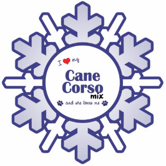 I Love My Cane Corso Mix (Female Dog) Photo Cut Outs