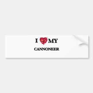 I love my Cannoneer Car Bumper Sticker