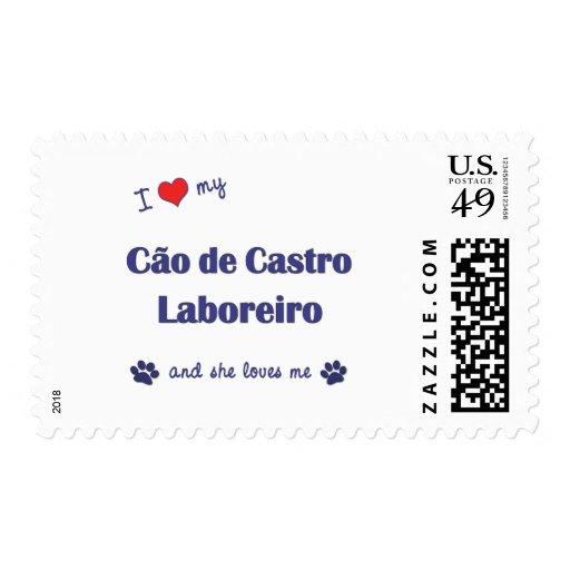 I Love My Cao de Castro Laboreiro (Female Dog) Stamps