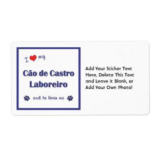 I Love My Cao de Castro Laboreiro (Male Dog) Shipping Label