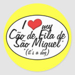 I Love My Cao de Fila de Sao Miguel (It's a Dog) Stickers