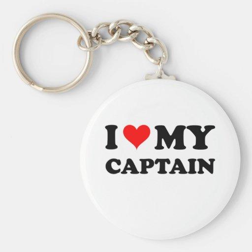 I Love My Captain Keychain