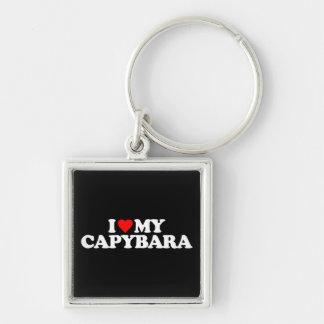 I LOVE MY CAPYBARA KEYCHAIN